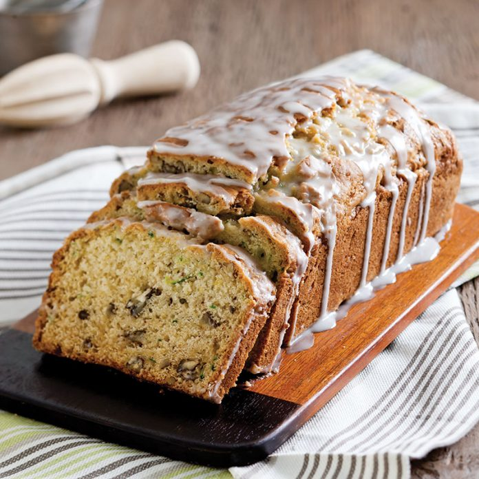 Zucchini Bread with Buttermilk-Lemon Glaze
