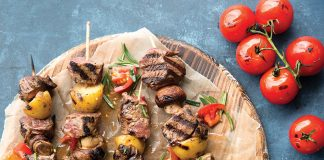 Steak & Potato Kabobs with Balsamic Tomatoes