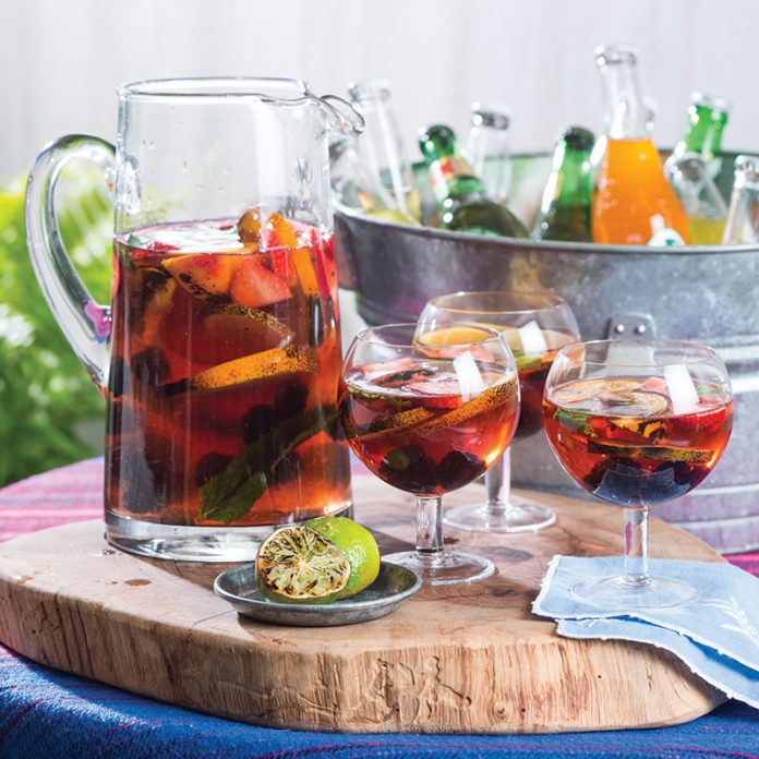 Rosé Sangria with Grilled Citrus