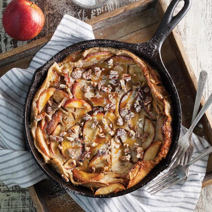 Apple Pecan Dutch Baby