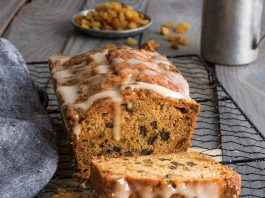 Spiced Carrot Bread with Golden Raisins