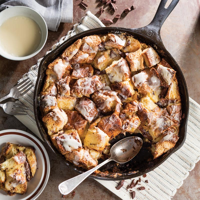 Bourbon-Chocolate Bread Pudding
