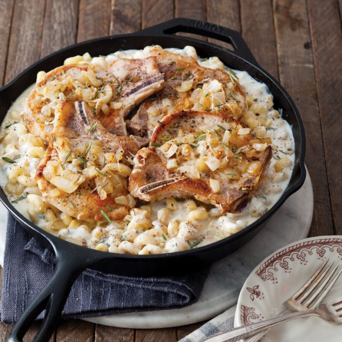 Pork Chop Mac and Cheese