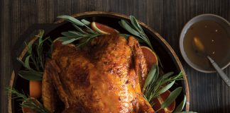 Skillet-Roasted Turkey with Bourbon-Orange Glaze