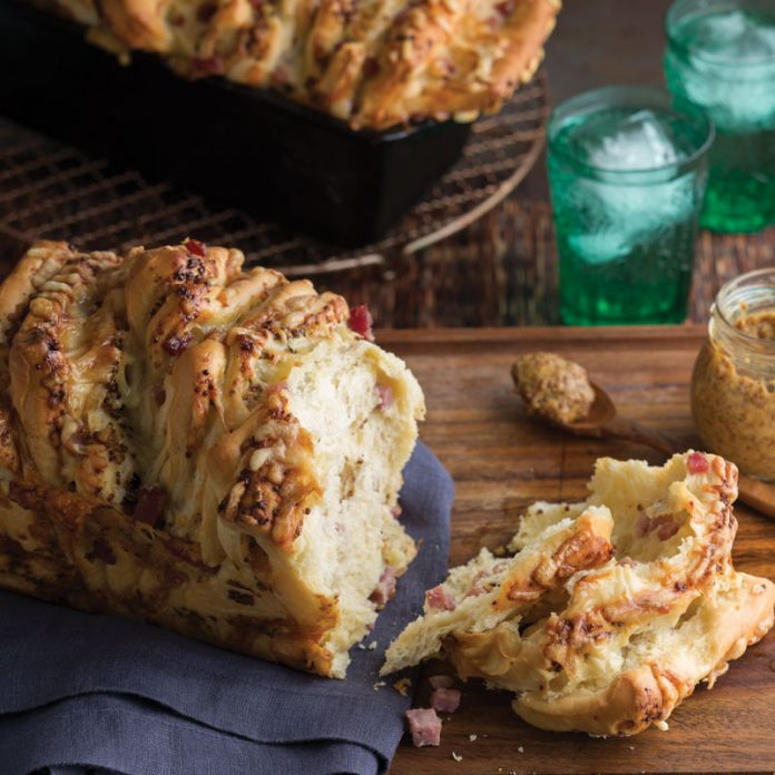 Ham and Cheese Pull Apart Bread