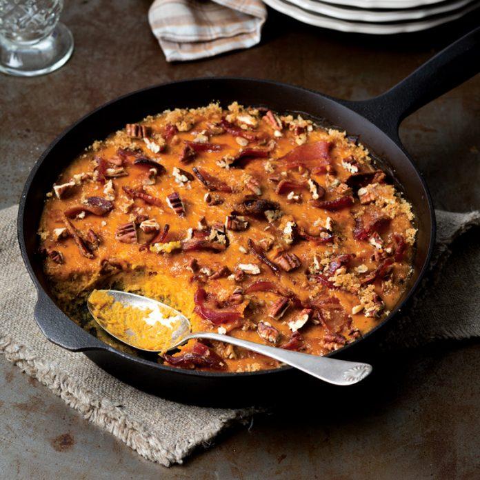 Sweet Potato Casserole Candied Bacon