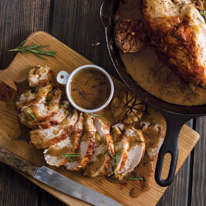 This is our go-to recipe when we want roast turkey with no-fuss in about an  hour.