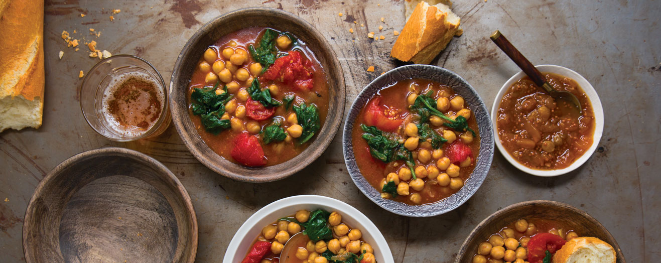 Chick Peas and Tomatoes