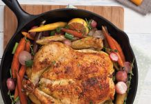 Roasted Chicken with Spring Vegetables