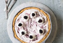Blackberry Cheesecake Icebox Pie