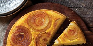 Upside Down Onion Cornbread