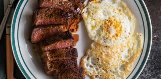 Skillet Steak with Fried Eggs