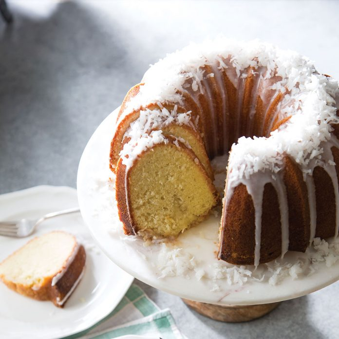 Coconut Cake With Coconut Milk And Sour Cream