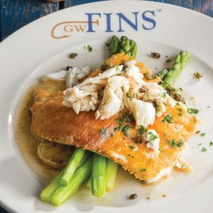 Parmesan-Crusted Flounder with Crabmeat and Asparagus